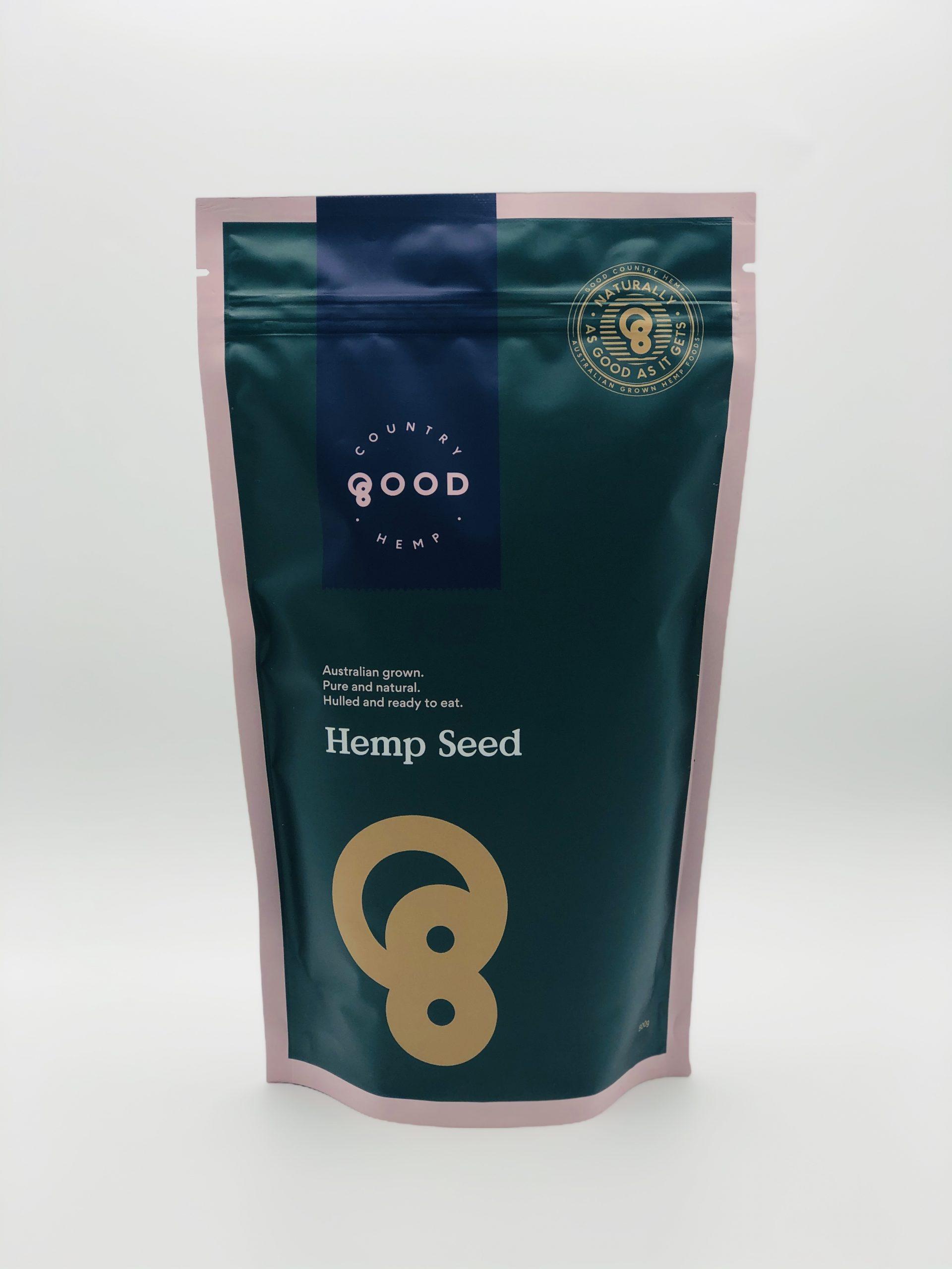 Hulled Hemp Seeds 500g Australian Grown Good Country Hemp
